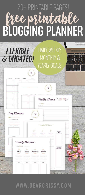 Free Printable Blogging Planner Blog Planner