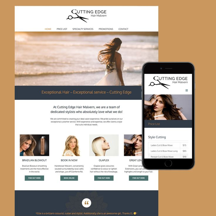 Cutting Edge Hair Malvern. Hairdresser website designed by Resonant Imagery and built on WordPress.