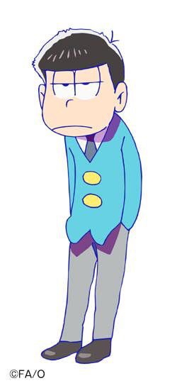"""松野一松 : 松野家四男。卑屈で根暗で友達いないけど、猫とは仲良し。本当は1番兄弟想いだと思います。私の""""2推し""""です。特徴は猫背と眠そうな目です。"""