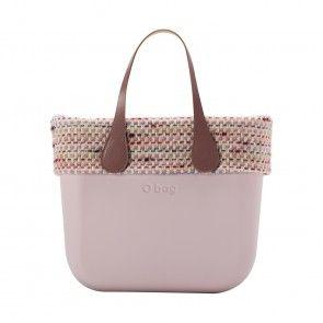 O bag mini rosa smoke con bordo trama chanel
