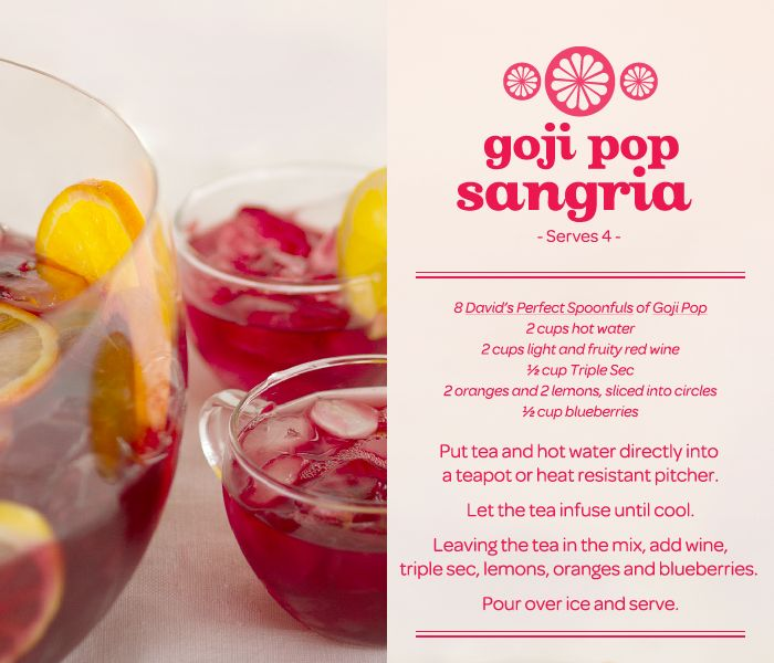 7. Favourite summer drink - Tie between Davids tea and Sangria. So how about both in one!