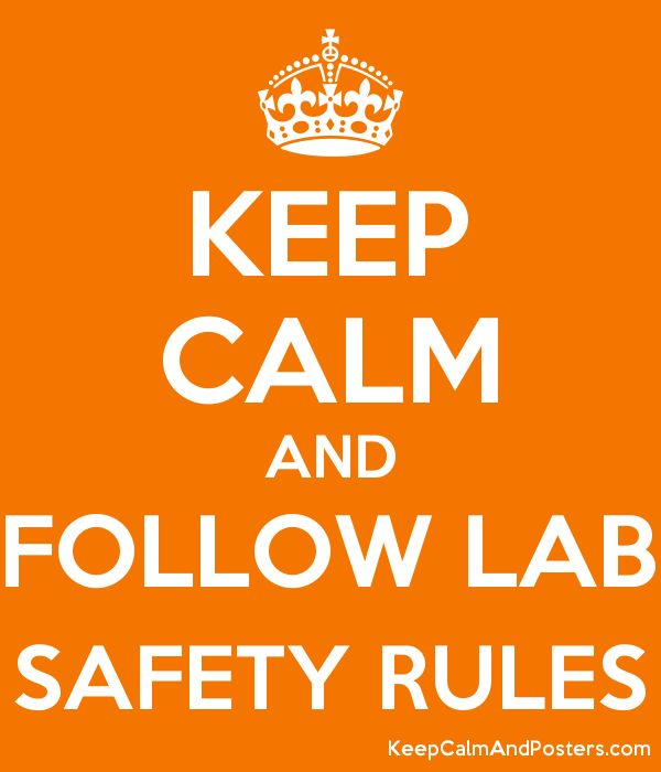 KEEP CALM AND FOLLOW LAB SAFETY RULES Poster