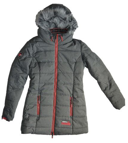 Superdry Womens Polar Sports Tall Puffer Coat Grey Marl – Moyheeland Traders