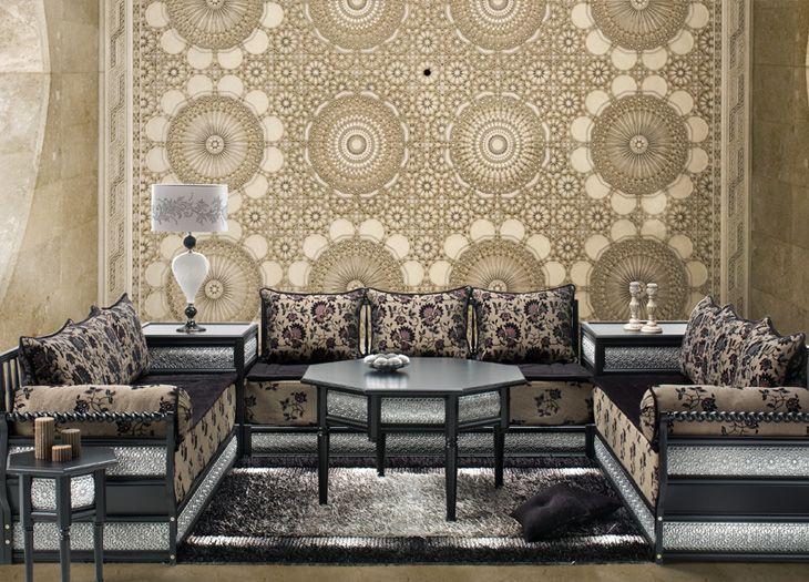 salon marocain de luxe 730 525 salon marocain pinterest simple et salons. Black Bedroom Furniture Sets. Home Design Ideas