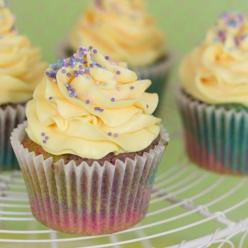 Objetivo: Cupcake Perfecto.: Cupcakes arcoiris con sabor a princesa... (y resultado del sorteo!!)
