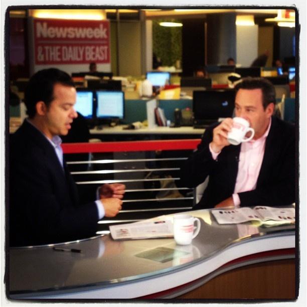 David Frum does BeastTV with John Avlon 8/7/2012 on 'America the Anxious'