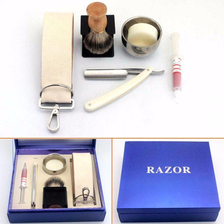 Straight Razor Shave Ready Cut Throat Badger Brush Best Men Shaving Gift Set