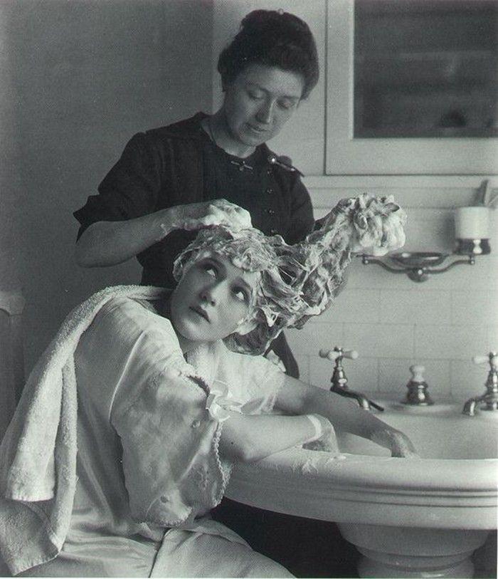bathroom history - vintage photo - foto storiche di bagni
