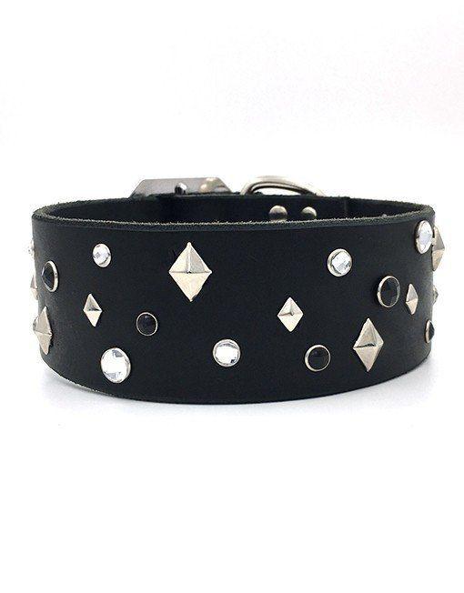Nala leather collar – Tweed & Stripes