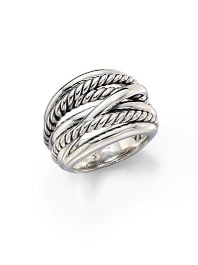 David Yurman - Wide Cable Ring - Saks.com