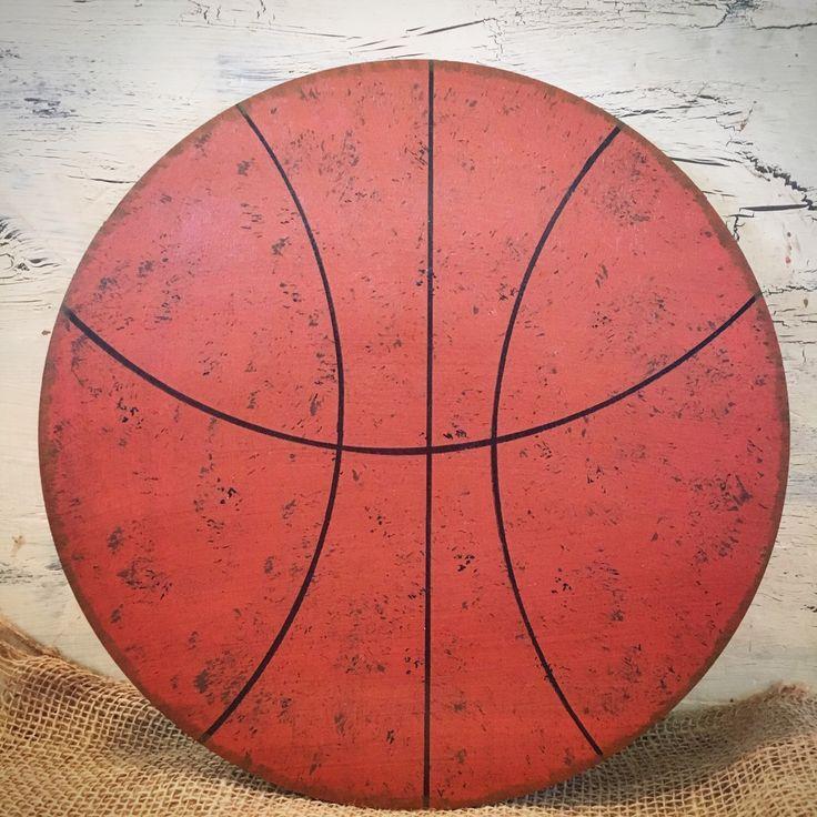 Basketball Nursery Wall Hanging-Basketball Hanging-Vintage Basketball -Nursery Decor-Basketball  Room-Wood Ball-Sports Nursery by AJsPrivyCreations on Etsy https://www.etsy.com/listing/259226832/basketball-nursery-wall-hanging