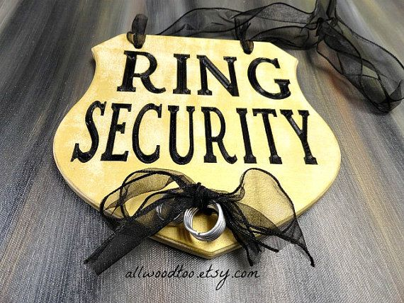 Funny Ring Bearer Sign Ring Security Wedding Sign by AllWoodToo #RingBearerSigns