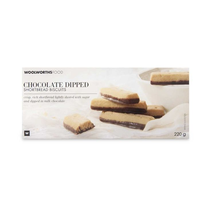 Chocolate Dipped Shortbread Biscuits 220g