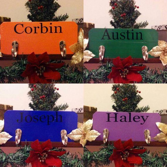 Personalized Wood Teens Backpack Hook -  Teens Coat and Backpack Hanger -  Personalized Backpack Wall Hanger - Personalized Gifts for Teens.