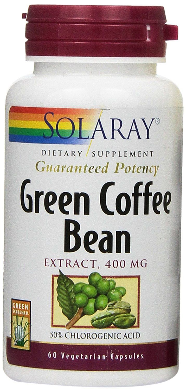 Solaray Green Coffee Bean Extract Capsules, 400mg, 60