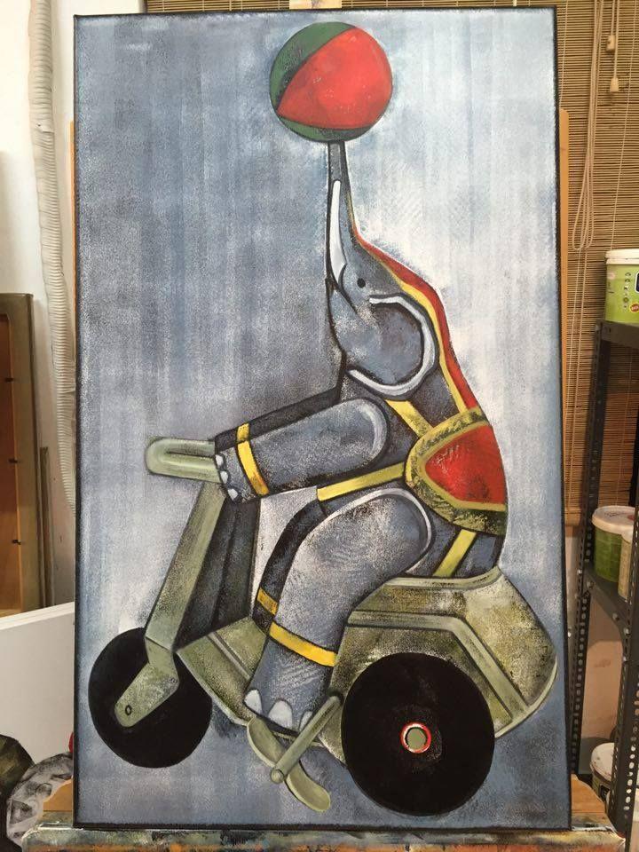 #mariannakatsoulidi'sartstudio #mariannakatsoulidi #katsoulidi #DLFineArtsGallery #dlfineartsgalleryCom #cooperation #artworks #greekpainter #atelier #art #artcollectors #artlovers #addictedtoarts #artstudio #newartworks #inthelab #paintings #painting #newartwork #intheworkshop #artpromotion #artmarket #toys #elephant
