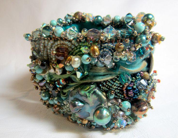 elaborate beaded cuff bracelet