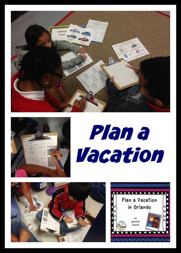 Let's Plan a Vacation. Have your students plan a vacation to Orlando. They have to plan a budget for airfare, car rental, hotel, food, and activities without going over $2500. Freebie.