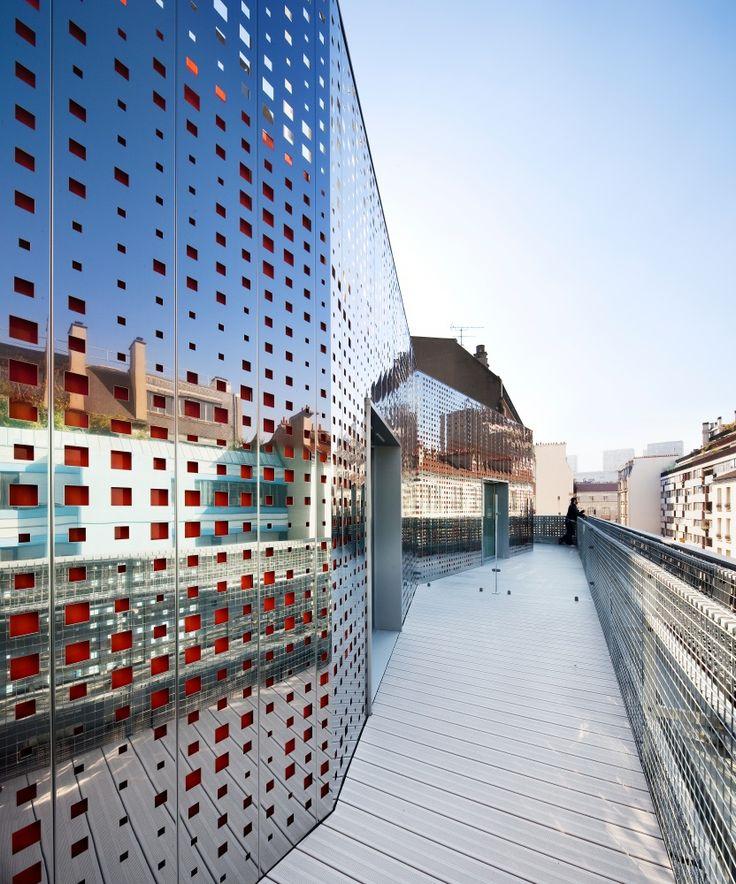 Résidence étudiante de 41 chambres, Paris 13 - RIVP - Antonini Darmon                                                                                                                                                                                 Plus