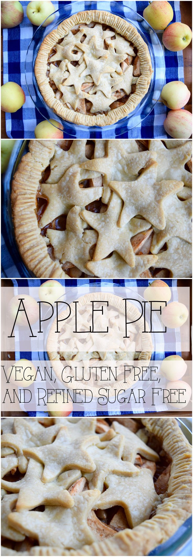 This vegan, refined sugar free, and gluten free apple pie is sweet, delicious, and perfect.