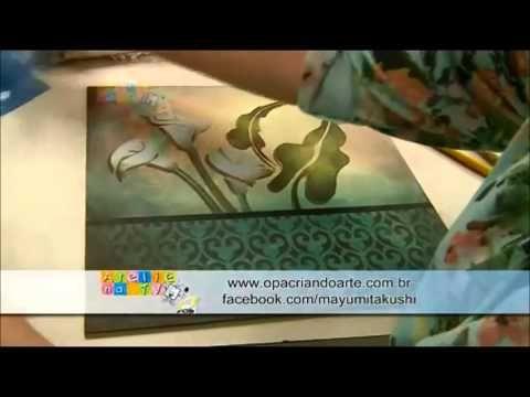 Stencil OPA - 25/09/14 - Mayumi Takushi - Copo de Leite - YouTube