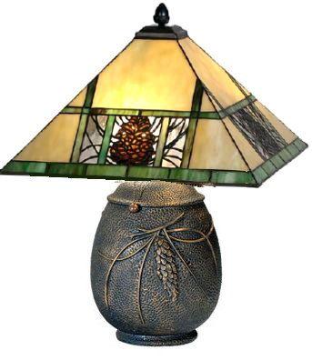 Pinecone Mission Table Lamp  ADIRONDACK RUSTIC DESIGNS