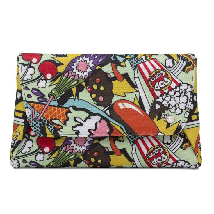 ANDY Pop Art Foldover Clutch- RRP $89.95 - Pop Art - Olga Berg Handbags and Bags Online