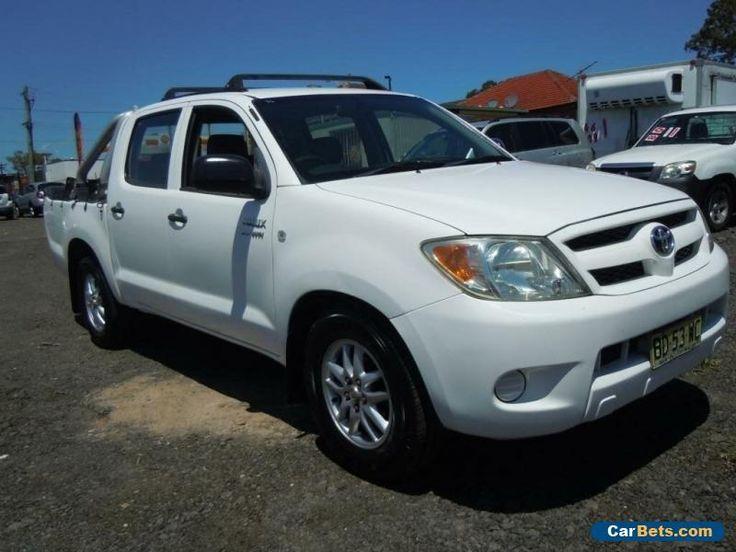 2005 Toyota Hilux TGN16R 2.7 VVT-I WORKMATE White Manual M C/CHASE #toyota #hilux #forsale #australia