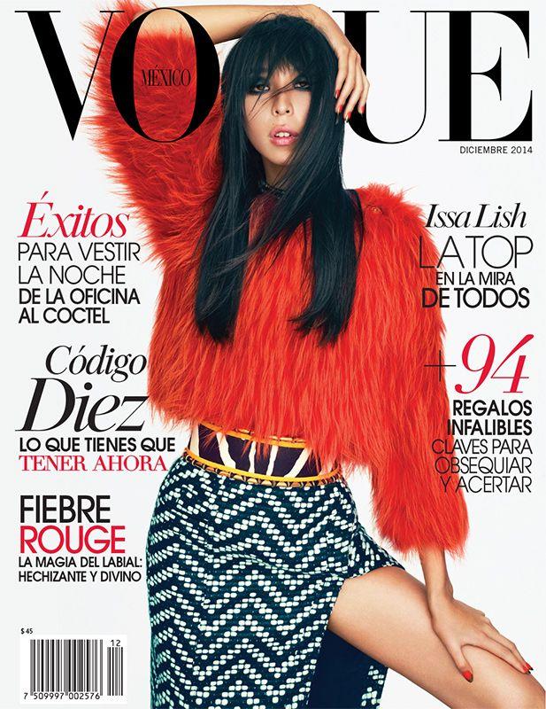 En #Vogue #diciembre, la musa mexicana revelación 2014 cierra un año de éxitos totales. Issa Lish es nuestra estrella de portada en #diciembre, en un look Balmain. buff.ly/1p6eWw5
