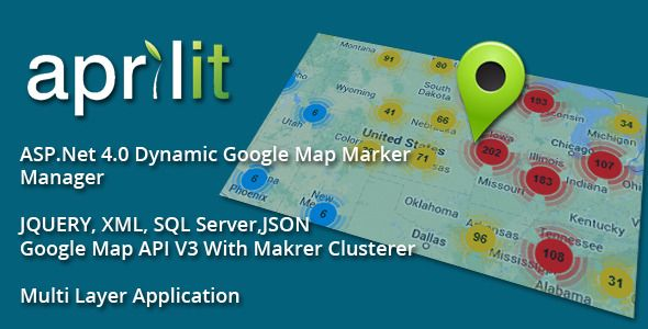 .Net Google Map Dynamic Markers . This solution will help you to Add dynamic categorized Markers to Google map. each marker category can be added also dynamically with Marker
