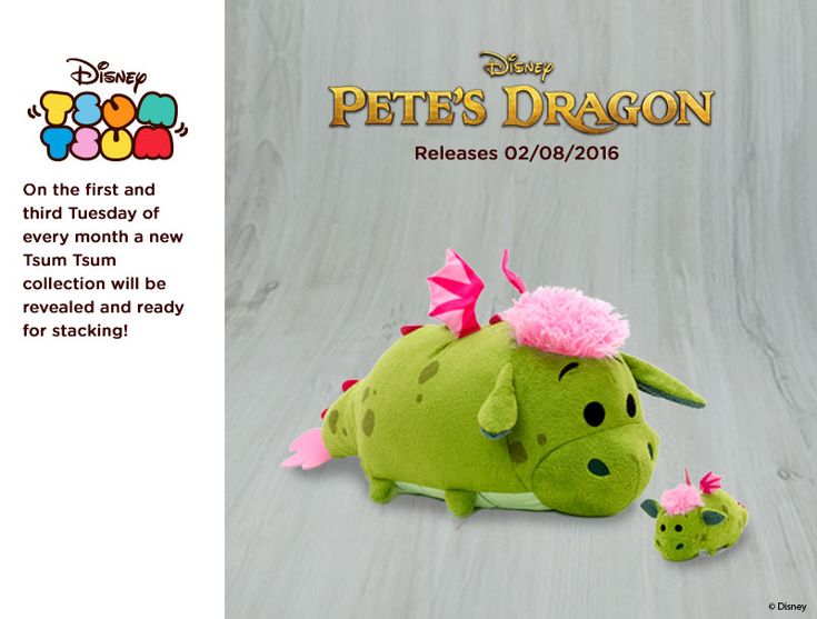 Petes Dragon Tsum Tsum Collection Coming Soon