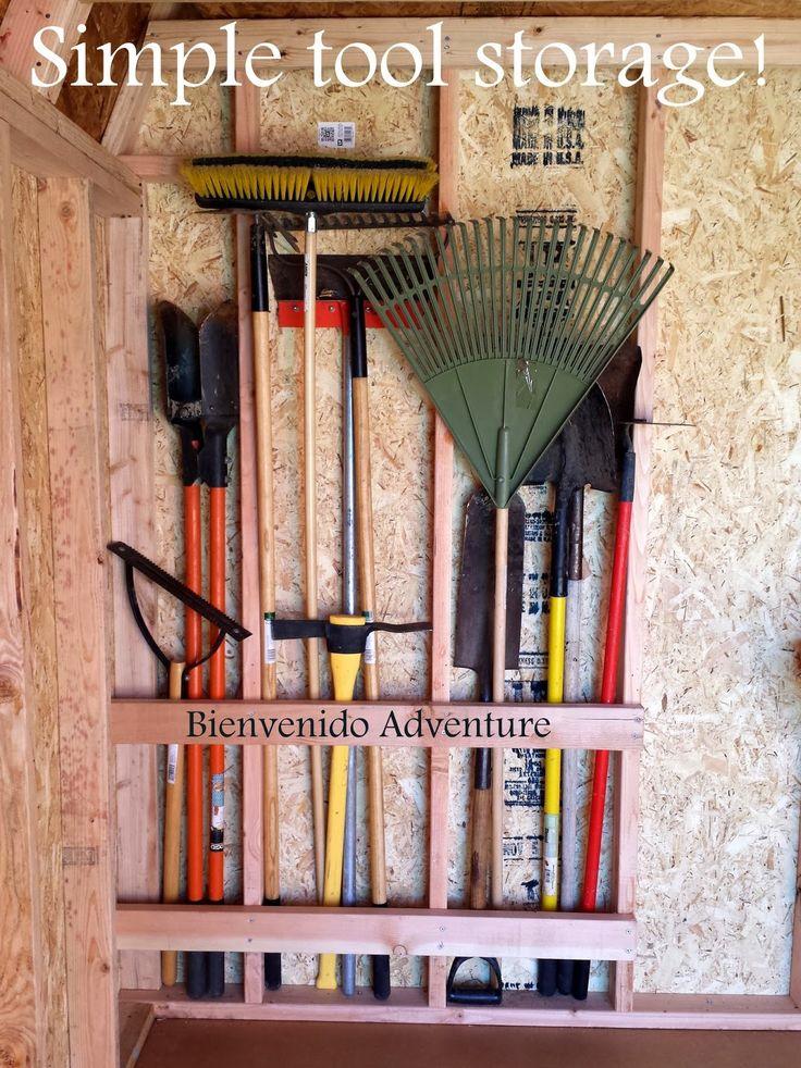 DIY Storage Shelves, Desk, and Overhead Loft - Camping Gear Storage | Find more at Bienvenido Adventure