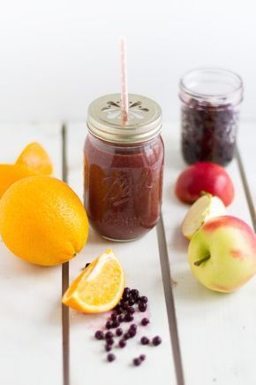 Smoothie Waldheidelbeeren, Apfel & Orangen I Smoothie Wild Blueberries, Apple, Oranges