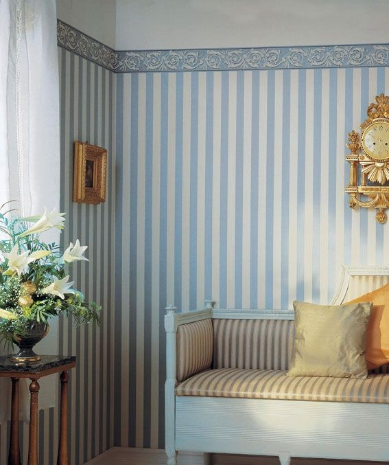 Striped swedish gustavian room | Duro of Sweden