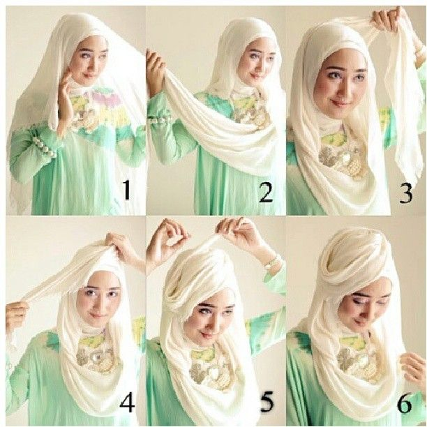 simple hijab for party