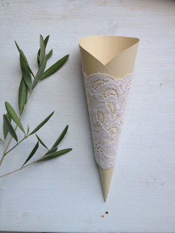 Wedding Rice Cone, Wedding Rice Toss Paper Cone, CUSTOM MADE