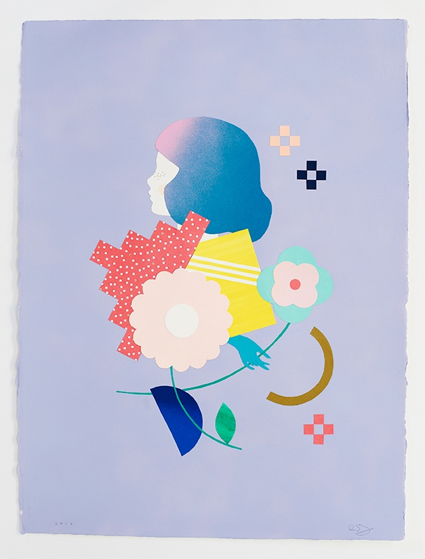 "'flower/profile' collage from my exhibition ""a hidden place"" with kat macleod"
