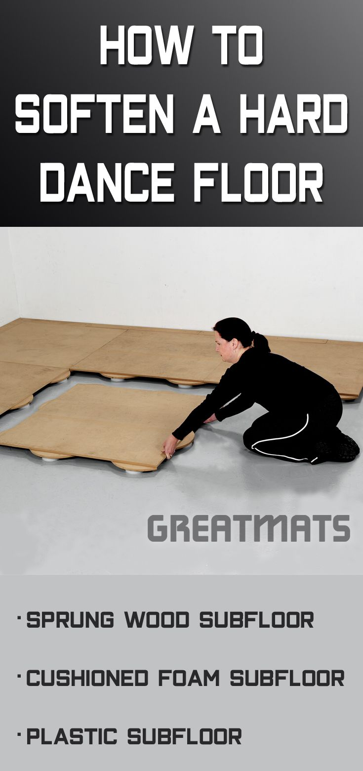 How To Soften A Hard Dance Floor With Sprung Subfloor Cushioned Foam Or And Plastic Combo We Have Various Options For