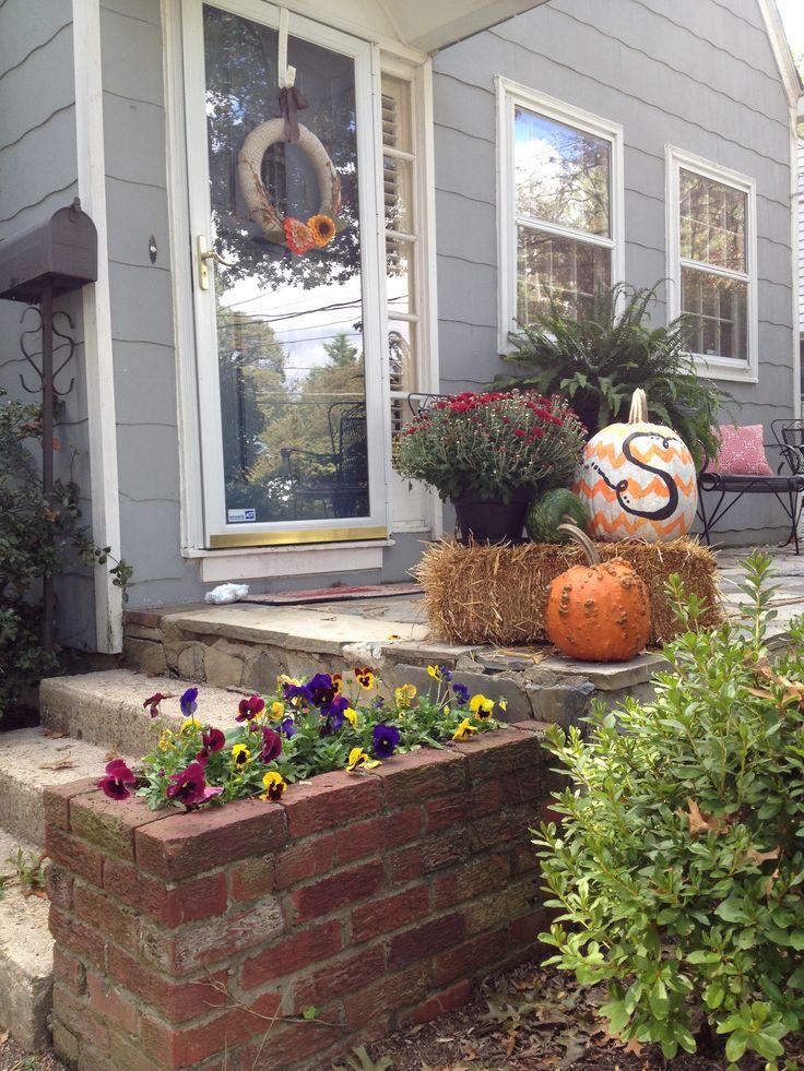 Fall Porch Decor Fall Thanksgiving Pinterest