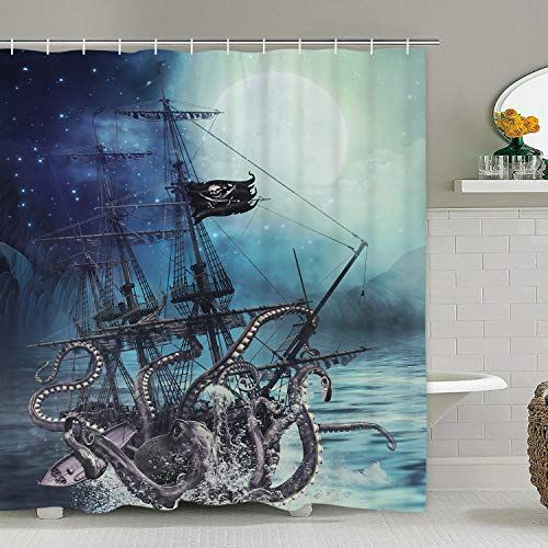 Krelymics Nautical Pirate Ship Attacked By The Kraken On The Waves