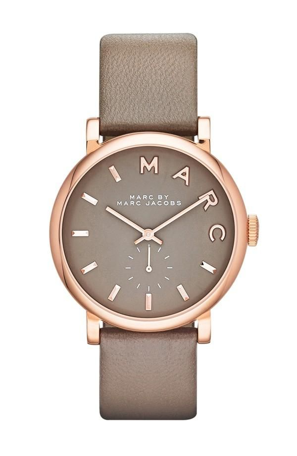 Rose gold watch by Marc Jacobs