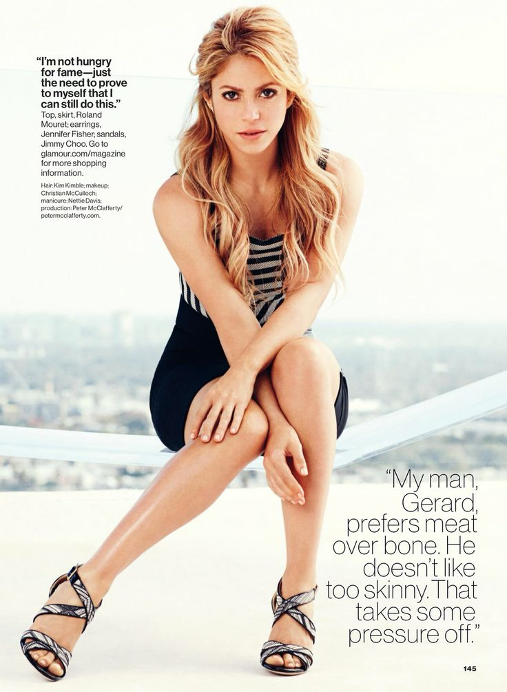 Shakira by Nicolas Moore for Glamour US February 2014