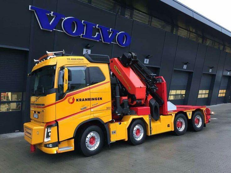 Volvo Fh Speciaaltransport Zwaar Auto Kraan Volvo