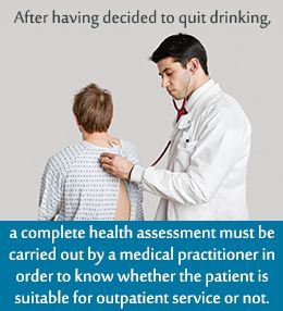 Care after quitting drinking