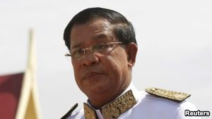 FILE - Cambodian Prime Minister Hun Sen says that had it not been for the Lon Nol regime and its ushering in of the Khmer Rouge, the Paris Peace Accords would not have been necessary.