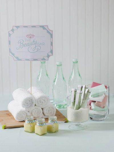 Beauty bar - spa bridal shower