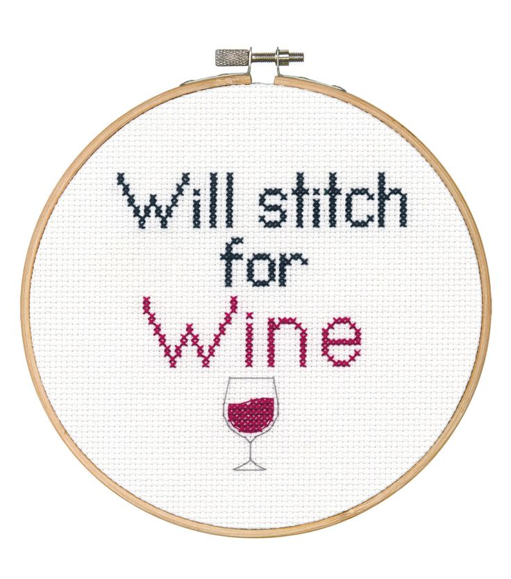 Say It! in cross stitch-Stitch for Wine