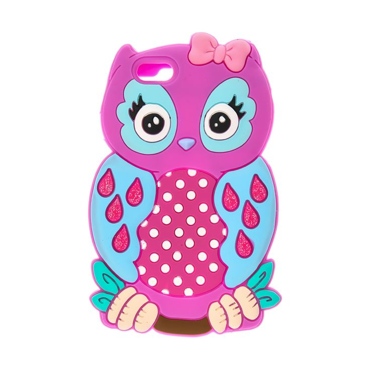 <P>This 3D silicone protective phone case features a bright pink and blue owl sitting on a branch with a pink bow. </P><UL><LI>Silicone protective case <LI>Compatible with iPhone 6 & iPhone 6S </LI></UL>