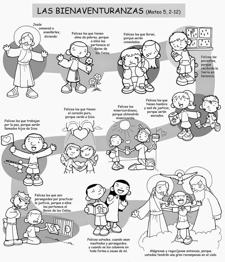 Dibujos para catequesis: LAS BIENAVENTURANZAS (Mateo 5, 2-12)                                                                                                                                                                                 Más