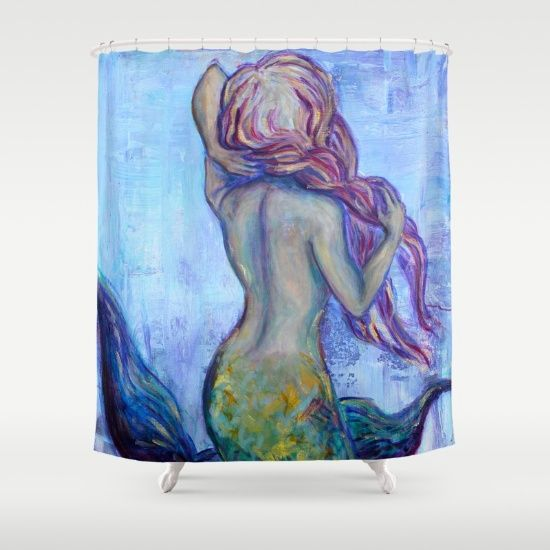 Ombre Mermaid Shower Curtain